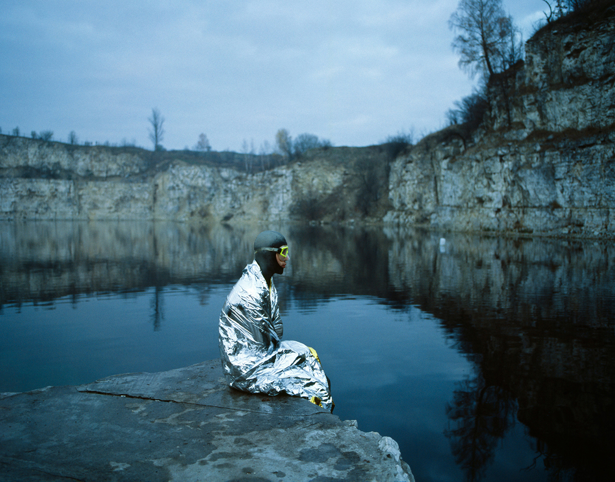 Cold is not an issue, the depth is. Matt Malina – vice-champion of the world in free-diving. Cracow, Poland. Quarries Zakrzowek.